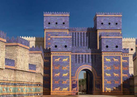 Babylon   s famed Ishtar Gate  which still stands today in much the    Babylon City Walls