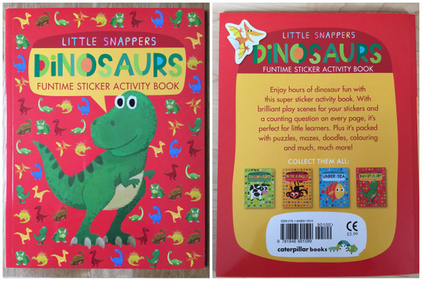 Dinosaurs Funtime sticker activity book by Little Tiger Press UK