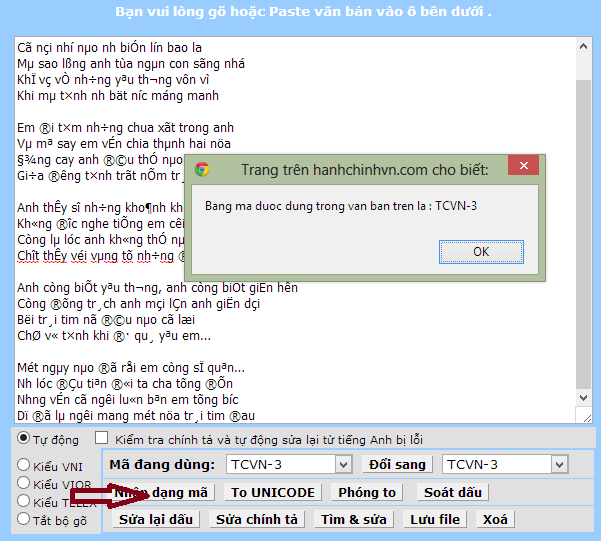 Chuyển đổi Font chữ Tiếng Việt online nhanh nhất