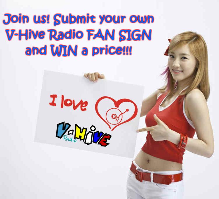 V-Hive Radio Fan Sign Contest