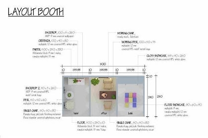 Jasa Desain layout Booth, backdrop, credenza, working chair, working desk, partisi, cloth showcase