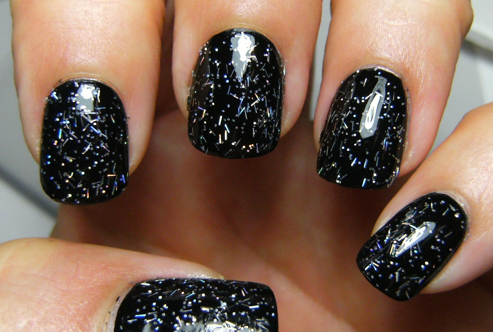 But It Is A Pretty Polish Has Short Holographic Bar Glitter And Small Round S Gel Like Consistancy Makes Spreading The