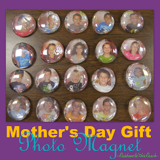 photo of: Preschool Mother's Day gift, kindergarten Mother's Day, preschool magnet for Mother's Day, photo magnet