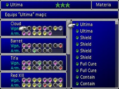 Final Fantasy 7 Materia System