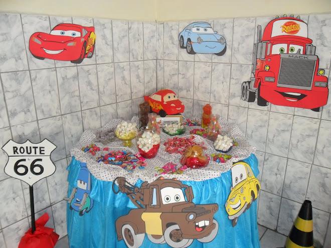 Mesa de doces - carros