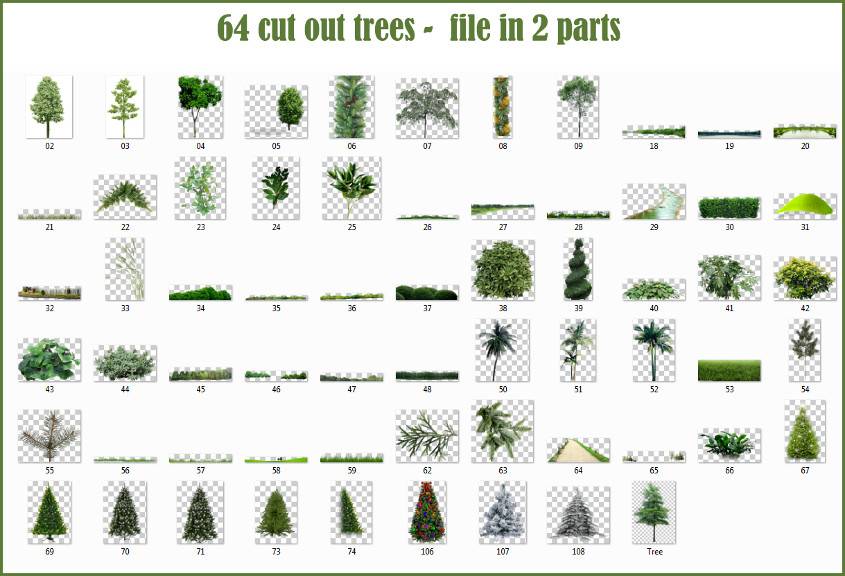 sketchup texture  cut out trees