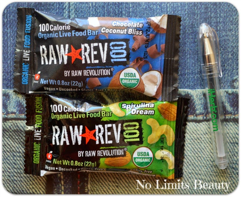 Raw Revolution, Raw Rev 100, Organic Live Food Bar, Spirulina Dream & Chocolate Coconut Bliss