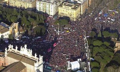 Italia se une a la marcha mundial  15 de Octubre de 2011