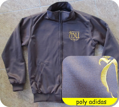 bahan jaket poly adidas