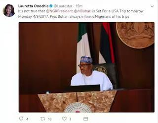Buhari Is Not Traveling To US – Presidency