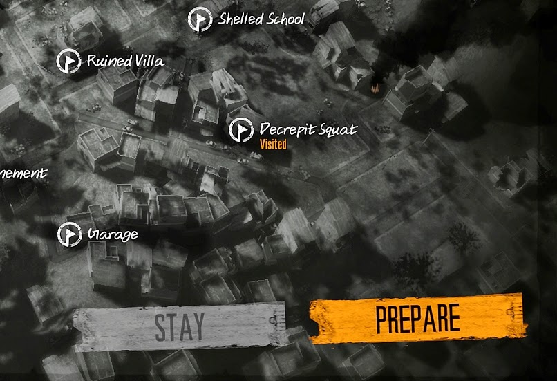 video game this war of mine part 4 locations map