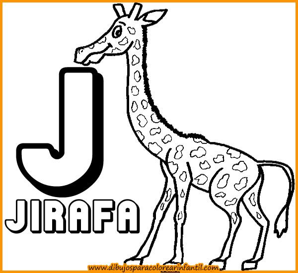 Laminas Para Colorear   Abecedario De Animales Para Colorear  Letra J