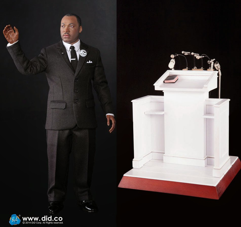 Action Figure Imagery Salutes Dr. Martin Luther King Jr. Action Figure Style !!!