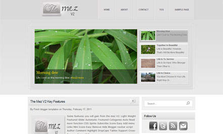 Template Blogspot The Mez V2