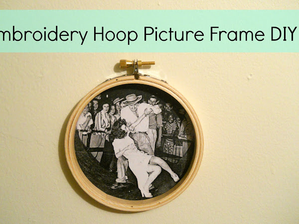 Embroidery Hoop Picture Frame DIY