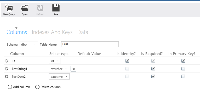 Sql server select sql azure development tools for Sql table design questionnaire