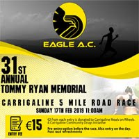 5 miler in Carrigaline nr Cork City... Sun 17th Feb 2019