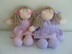 Bonecas de pano 25 cm