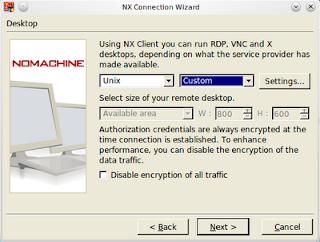 nxclient desktop dialog