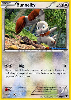 Bunnelby Pokemon X and Y Card