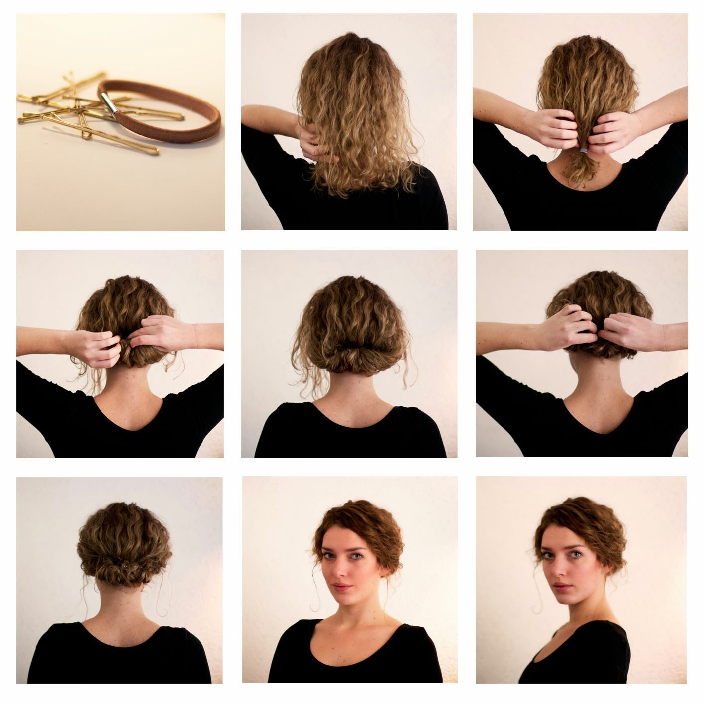 Tuto coiffure cheveux boucles court