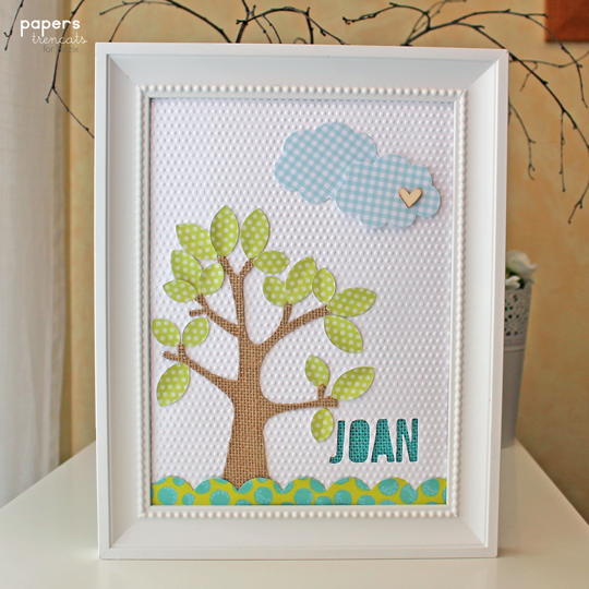 Crafting ideas from Sizzix UK: Baby frame - Tutorial