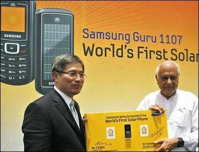 Samsung Guru 1107 Ponsel Tenaga Surya Pertama Didunia