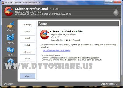CC2 CCleaner Professional 3.19.1721 + Crack