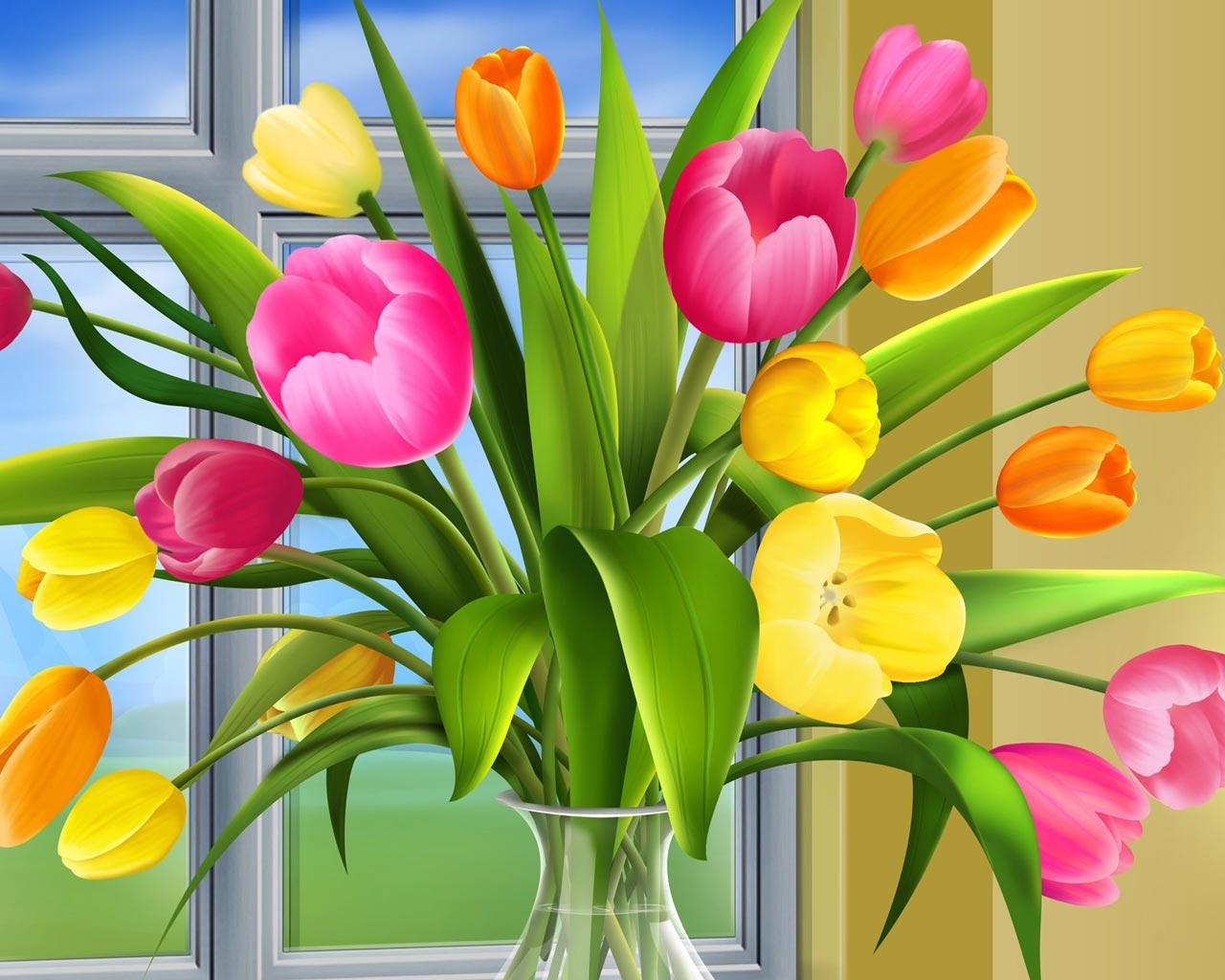 Cartoon flowers wallpaper cartoon wallpaper - Flower wallpaper 3d pic ...