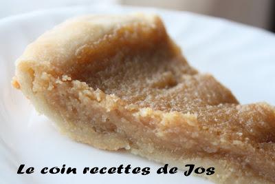 recettes  Tarte au sucre (de Ricardo)