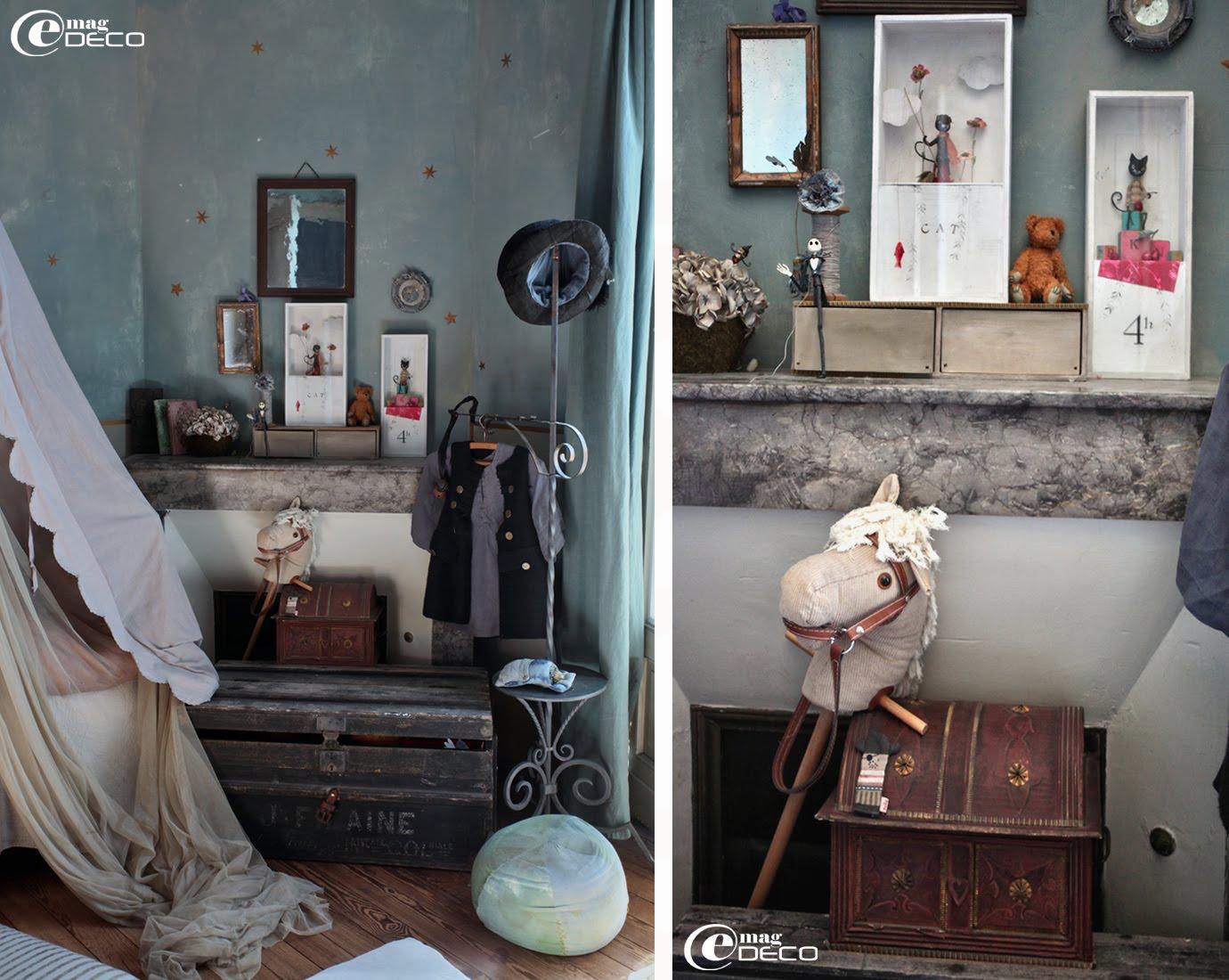 Détail de la décoration d'une chambre d'enfant, chez Miss Clara