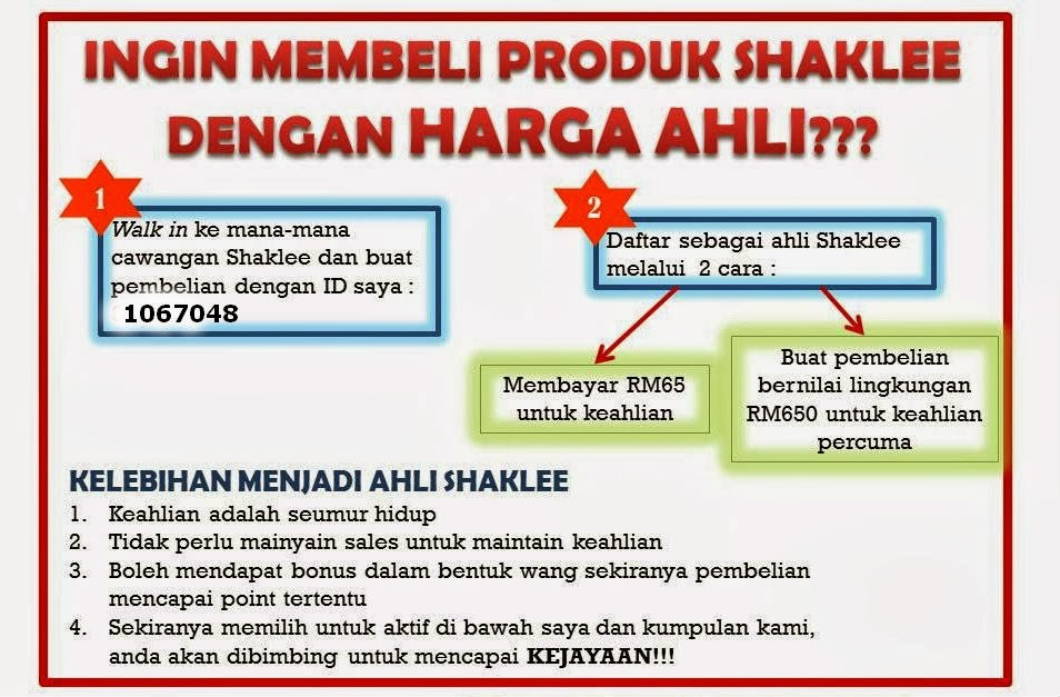 BELI PRODUK SHAKLEE DGN $ AHLI