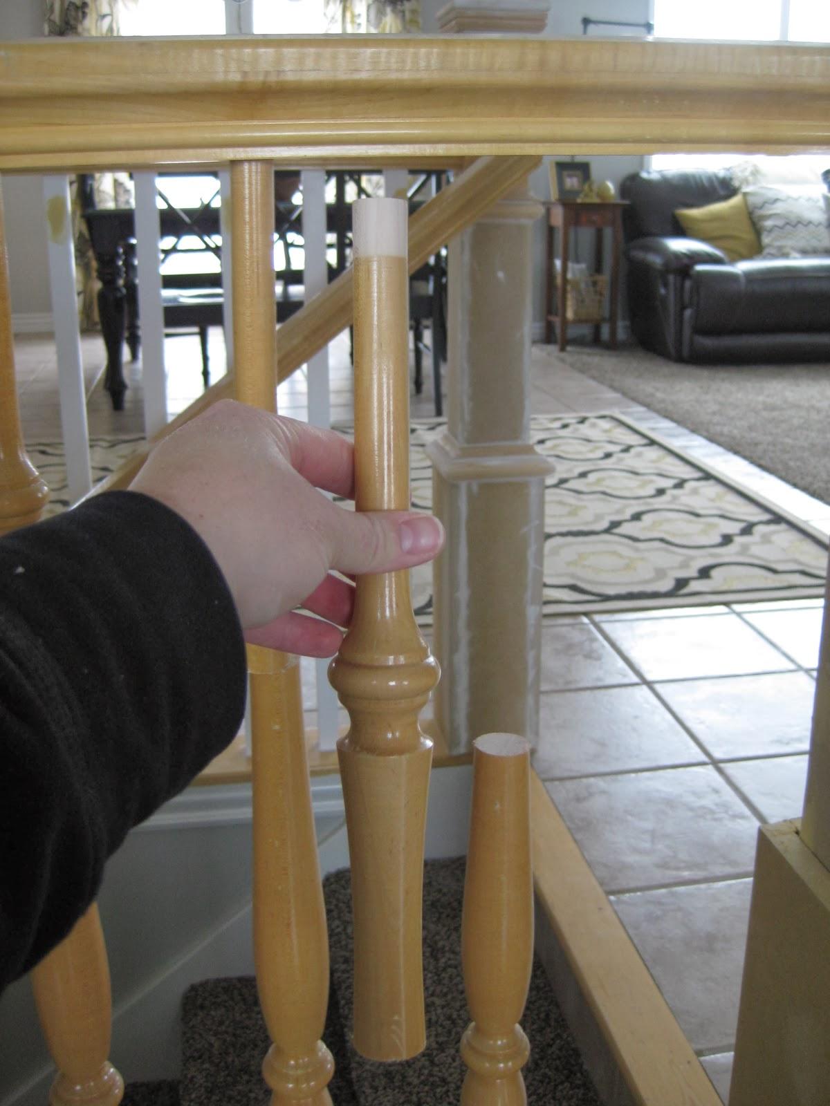 tda decorating and design diy stair banister tutorial. Black Bedroom Furniture Sets. Home Design Ideas