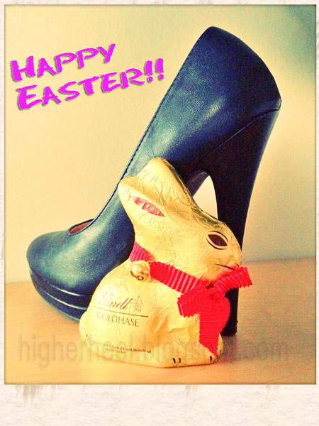 6 inch black high heels at Easter