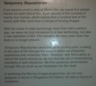 Singapore, Substation, Temporary Repositories, Moving Images