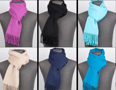 bufandas de colores