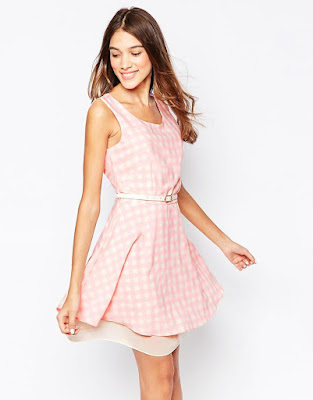 ASOS skater dress in Gingham print