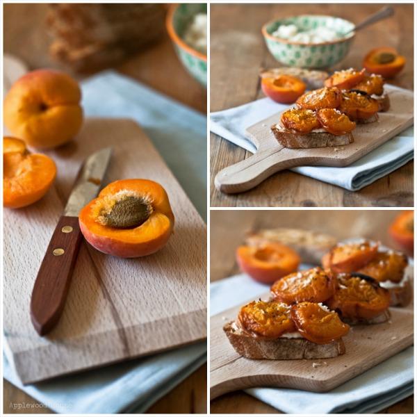 Aprikosen Brot Ricotta Rezept