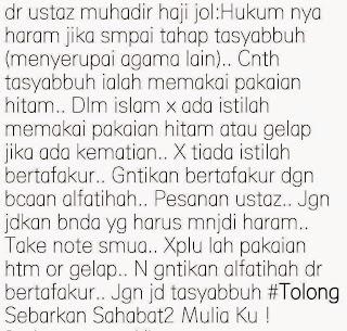 Tiada Tafakur Dalam Islam Tasyabuh itu haram