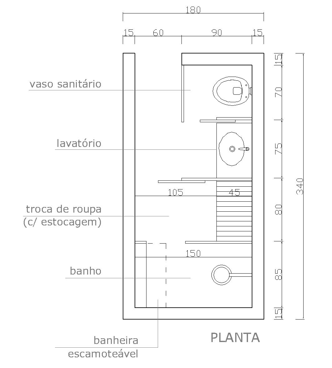 planta do banheiro proposto perspectiva ilustrativa do banheiro  #666666 1063 1177