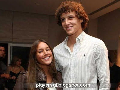 David Luiz and his wife