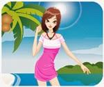 Thời trang du lịch biển, game ban gai