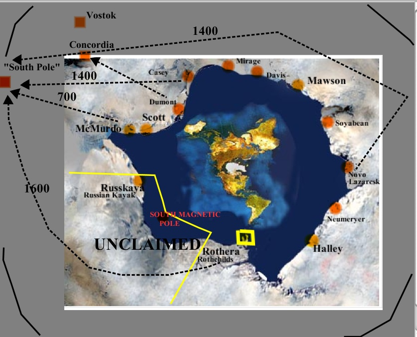 Rick potvins virtual circumnavigation of antarctica to decide if speculative labelled flat earth map with a few interior stations gumiabroncs Choice Image