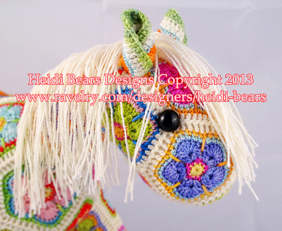 Heidi Bears Fatty Lumpkin The Brave African Flower Pony Crochet