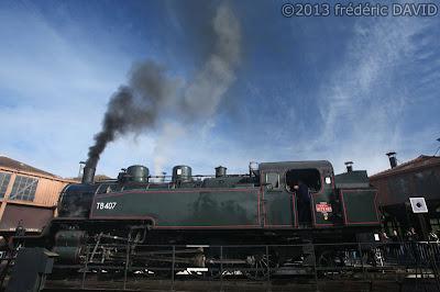 train vapeur pont tournant rotonde dépôt AJECTA ferroviaire Seine-et-Marne