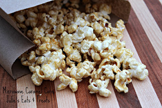Julie's Eats & Treats: Microwave Caramel Corn