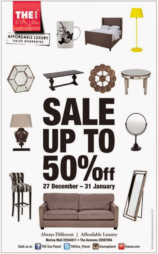 The one furniture and home accessories shop sale upto 50 off in avenues and marina mall