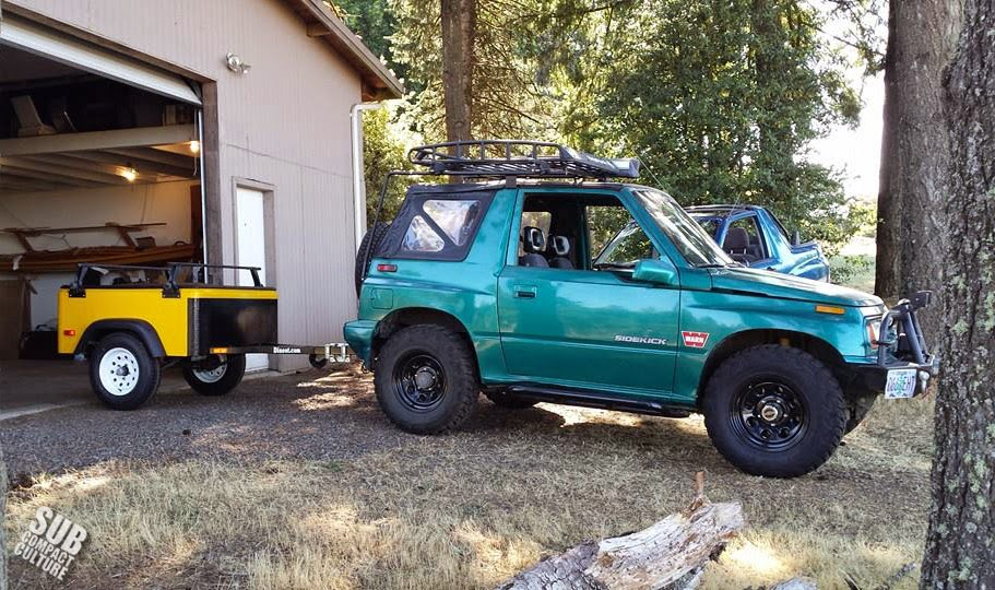 The Teal Terror with a Dinoot Trailer