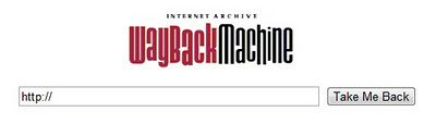 Wayback Machine site