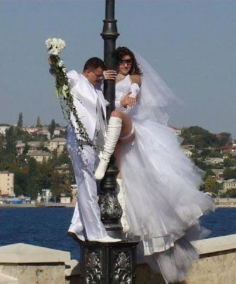 Weird wedding shot